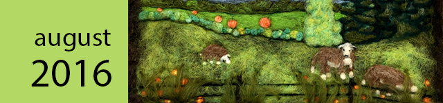 Sugar Island Countryside, needle felting by Judy Colein.
